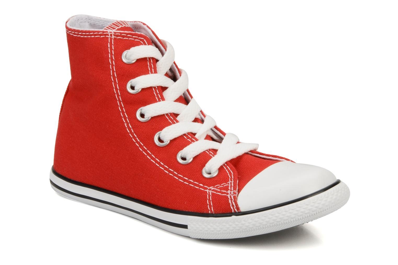 Baskets Converse Chuck taylor all star slim canvas hi k Rouge vue détail/paire