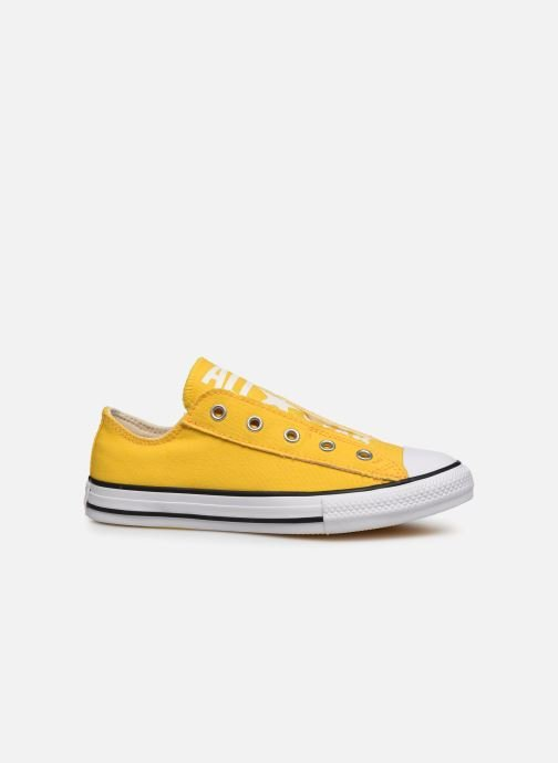 Baskets Converse Chuck Taylor All Star Slip On Ox K Jaune vue derrière