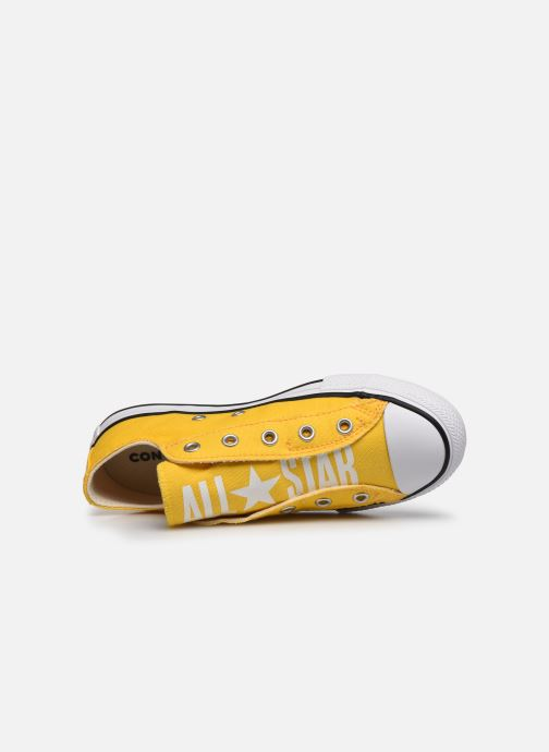 Baskets Converse Chuck Taylor All Star Slip On Ox K Jaune vue gauche