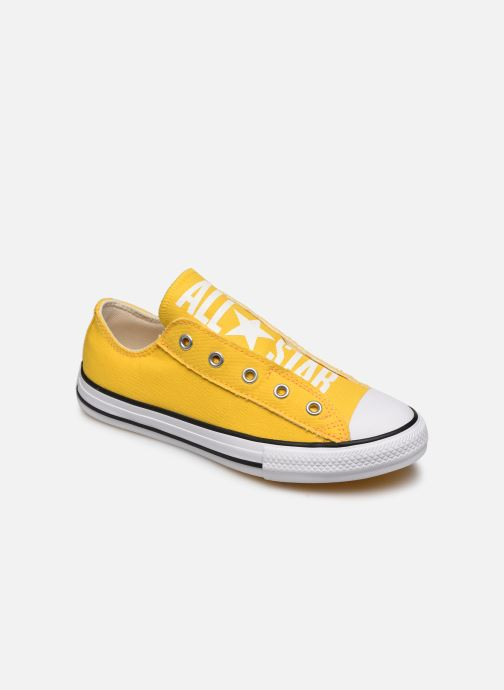 Baskets Converse Chuck Taylor All Star Slip On Ox K Jaune vue détail/paire