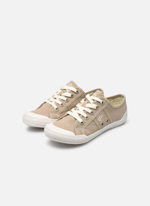 Sneaker TBS Opiace beige ansicht von unten / tasche getragen