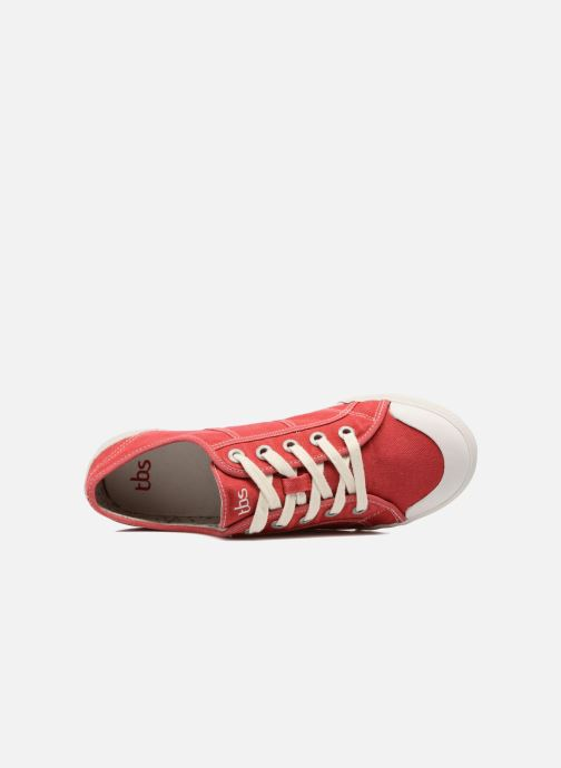 Sneakers TBS Opiace Rosso immagine sinistra