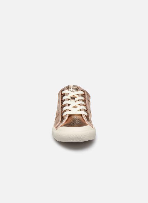 Baskets TBS Opiace Or et bronze vue portées chaussures