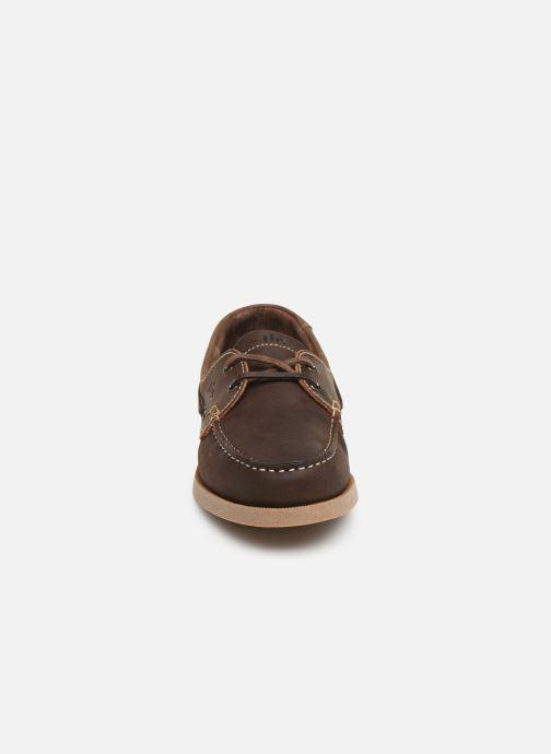 Zapatos con cordones TBS Phenis Marrón vista del modelo