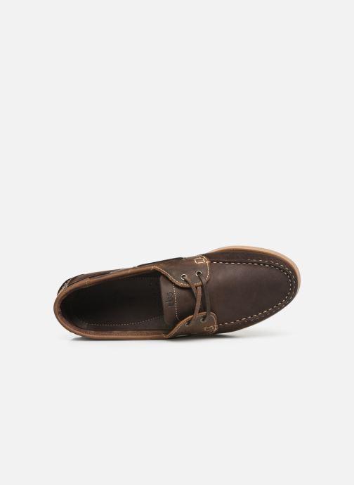 Zapatos con cordones TBS Phenis Marrón vista lateral izquierda