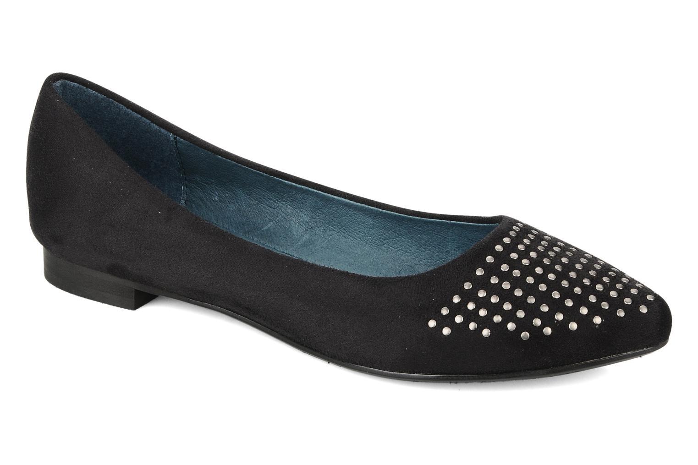 Ballerinaer Karston Cozi Sort detaljeret billede af skoene