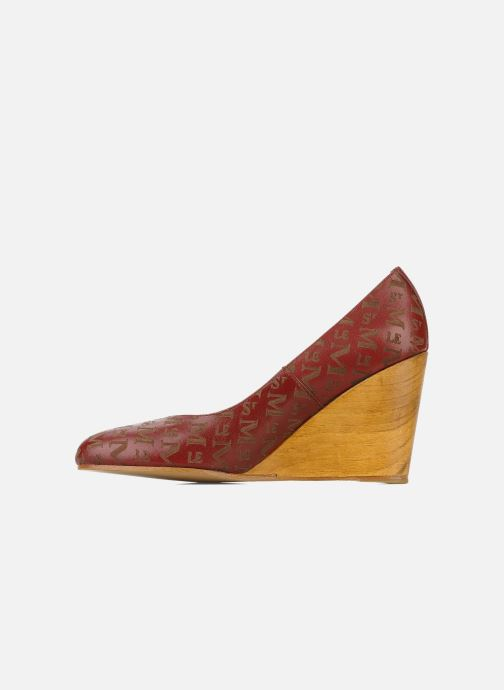 High heels Le Mont St Michel Ponoma Burgundy front view