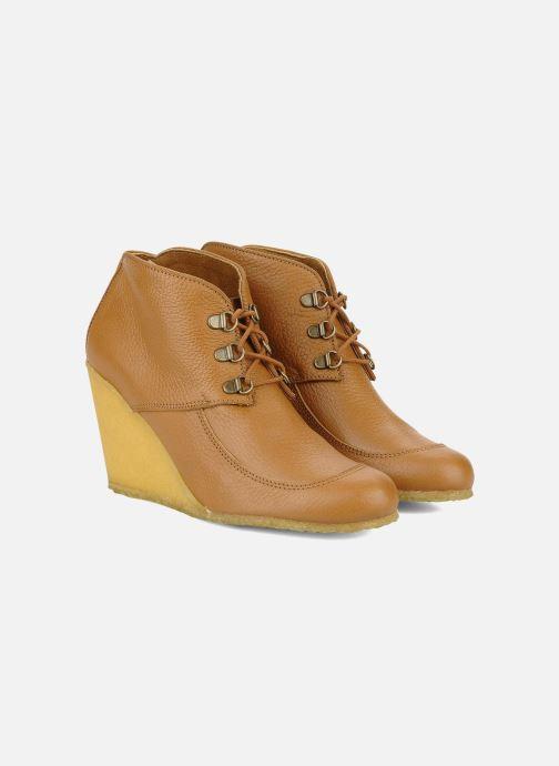 Bottines et boots Le Mont St Michel Alameda Marron vue 3/4