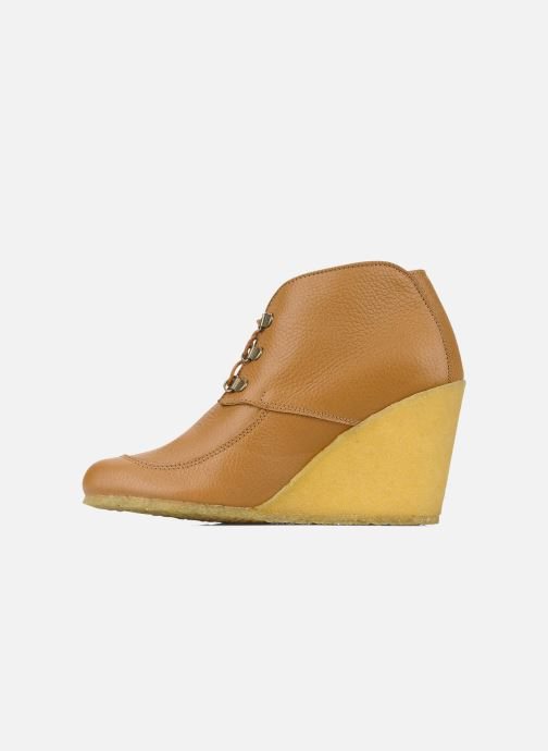 Bottines et boots Le Mont St Michel Alameda Marron vue face