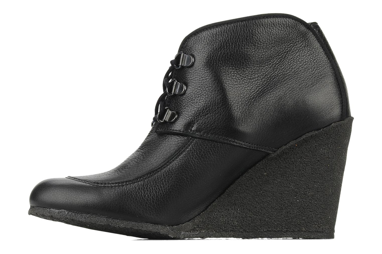 Bottines et boots Le Mont St Michel Alameda Noir vue face