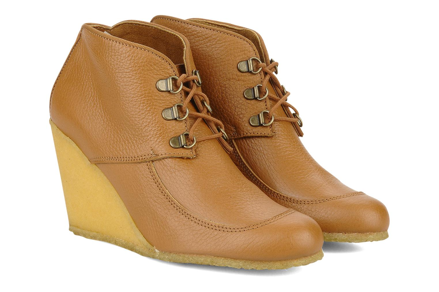 Ankle boots Le Mont St Michel Alameda Brown 3/4 view