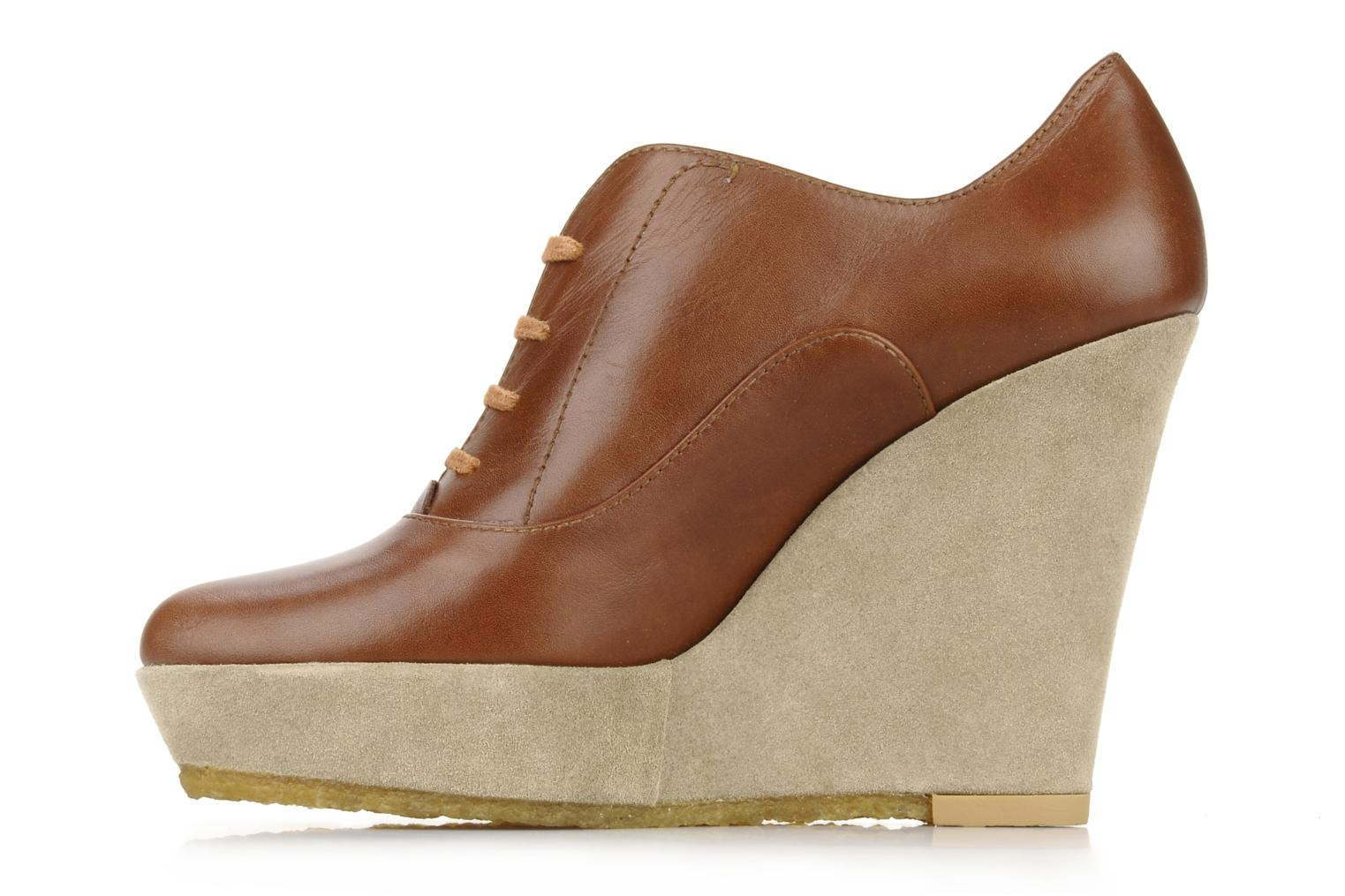 Lace-up shoes Castaner Fusta Brown front view