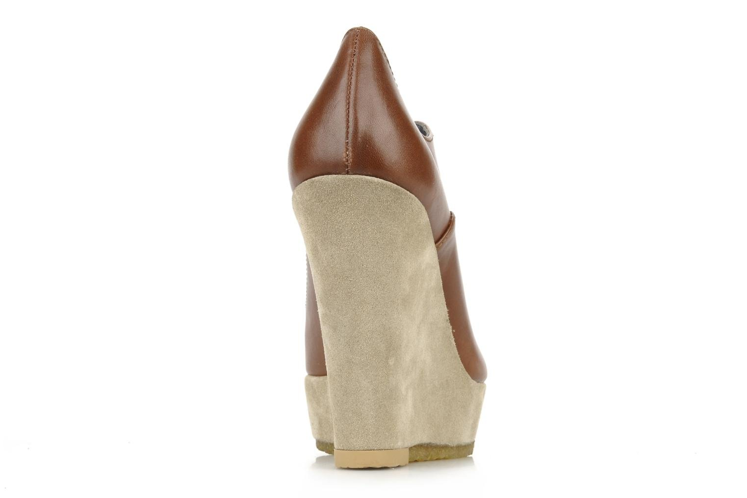 Lace-up shoes Castaner Fusta Brown view from the right