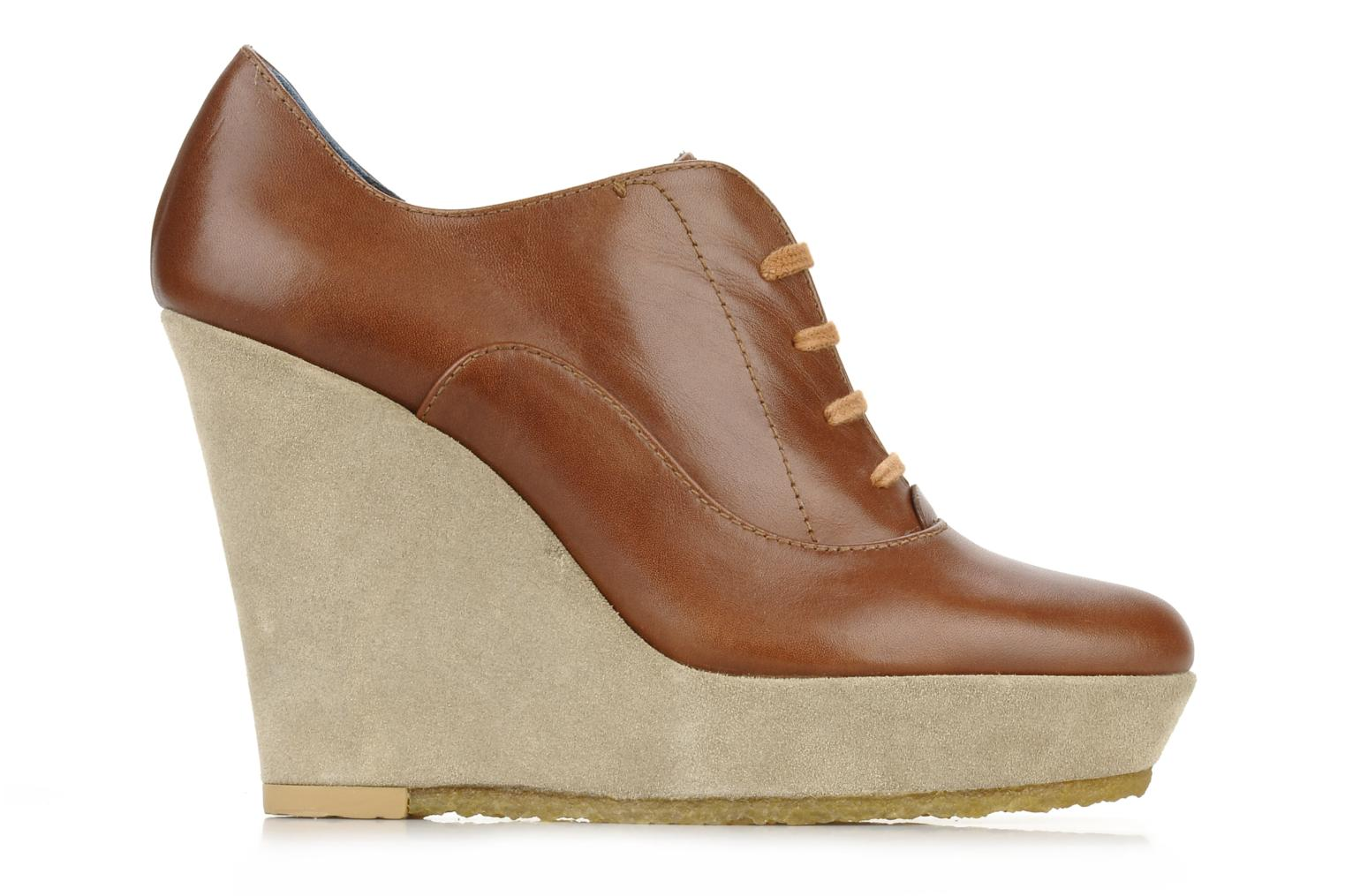 Lace-up shoes Castaner Fusta Brown back view