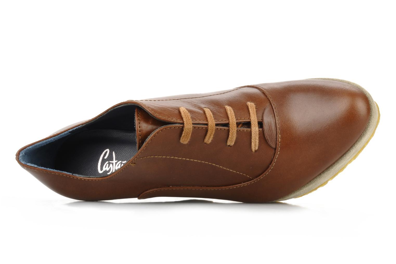 Zapatos con cordones Castaner Fusta Marrón vista lateral izquierda