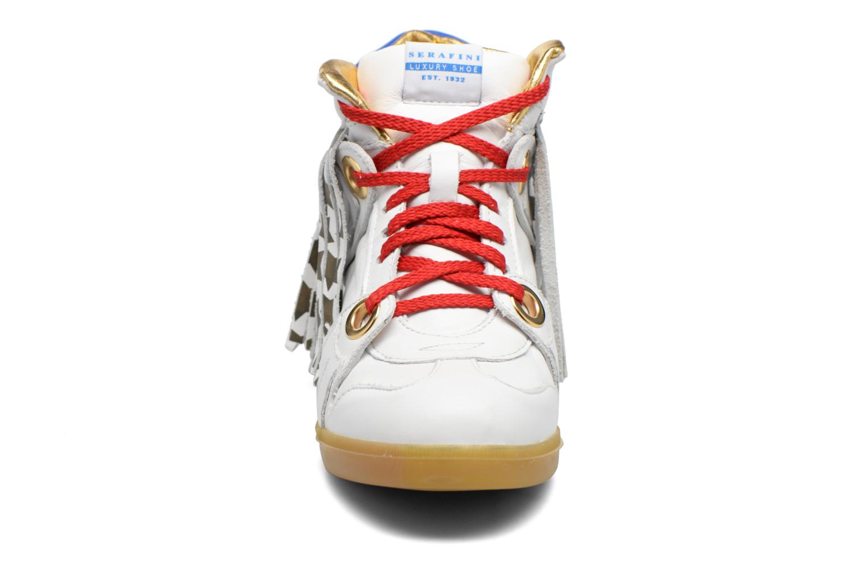 Baskets Serafini Manhattan Blanc vue portées chaussures