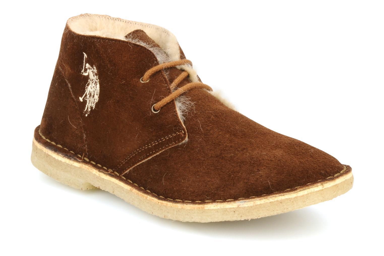Chaussures à lacets U.S Polo Assn. Aileen Marron vue détail/paire