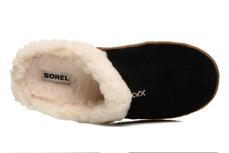 Pantoffels Sorel Nakiska slide Zwart links