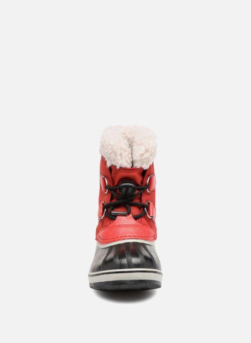 Chaussures de sport Sorel Yoot Pac Nylon Rouge vue portées chaussures