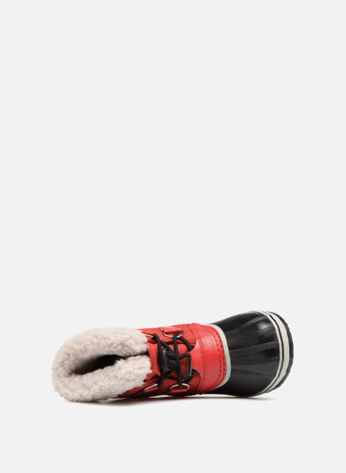 Chaussures de sport Sorel Yoot Pac Nylon Rouge vue gauche
