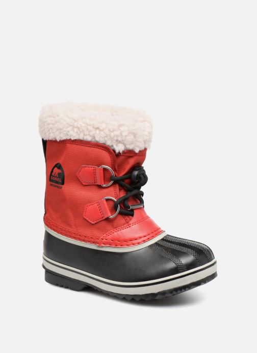 Chaussures de sport Sorel Yoot Pac Nylon Rouge vue détail/paire