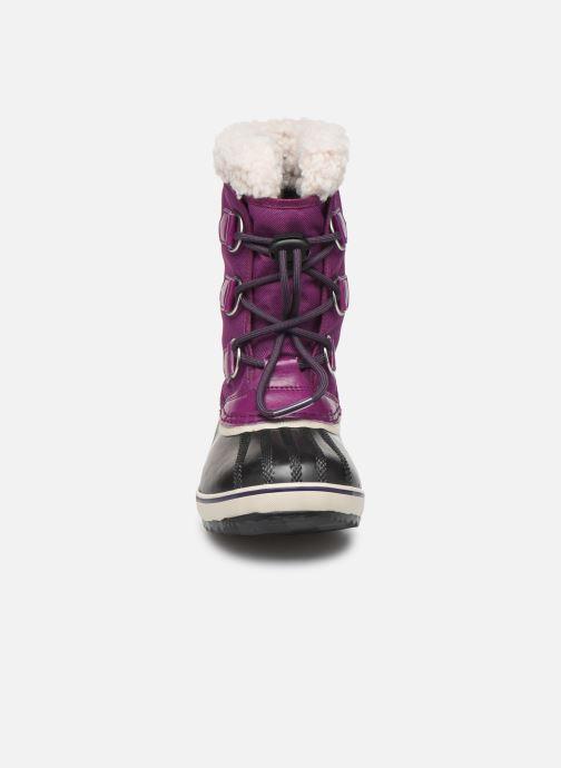 Sportschuhe Sorel Yoot Pac Nylon lila schuhe getragen