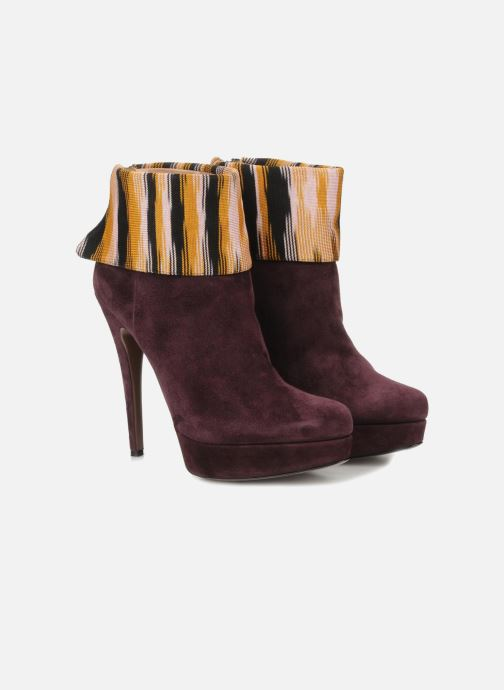 Bottines et boots Missoni Sitia Bordeaux vue 3/4
