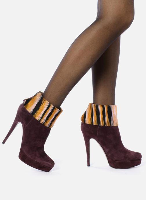 Stiefeletten & Boots Missoni Sitia weinrot ansicht von unten / tasche getragen