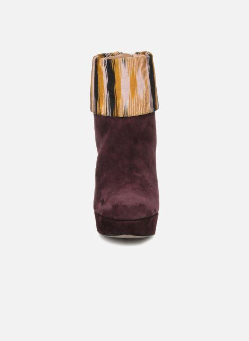 Stiefeletten & Boots Missoni Sitia weinrot schuhe getragen
