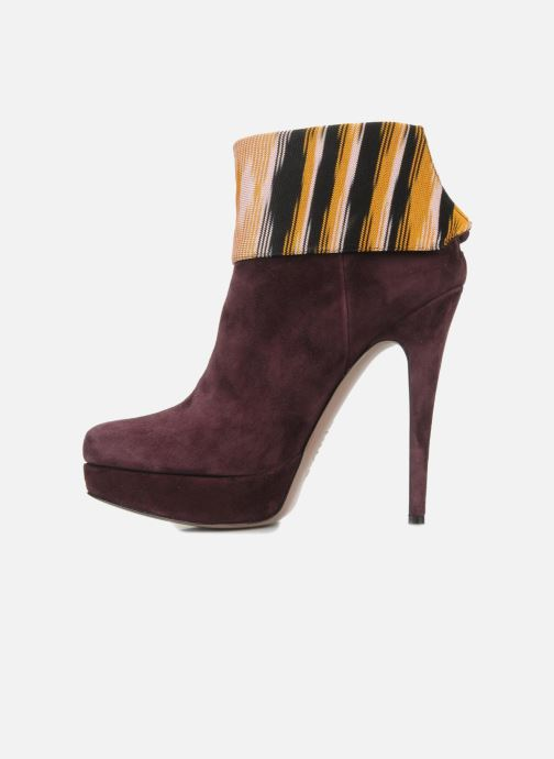 Bottines et boots Missoni Sitia Bordeaux vue face
