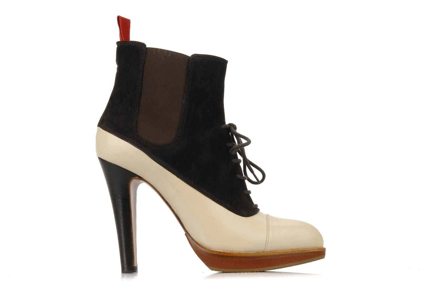 Ankle boots Michel Perry Virona Beige back view