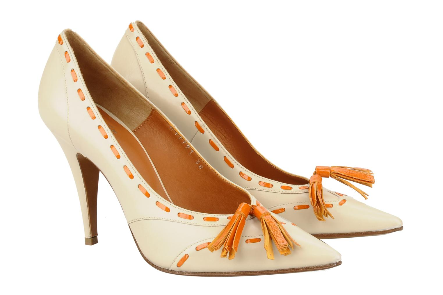 High heels Michel Perry Iraklia Beige 3/4 view