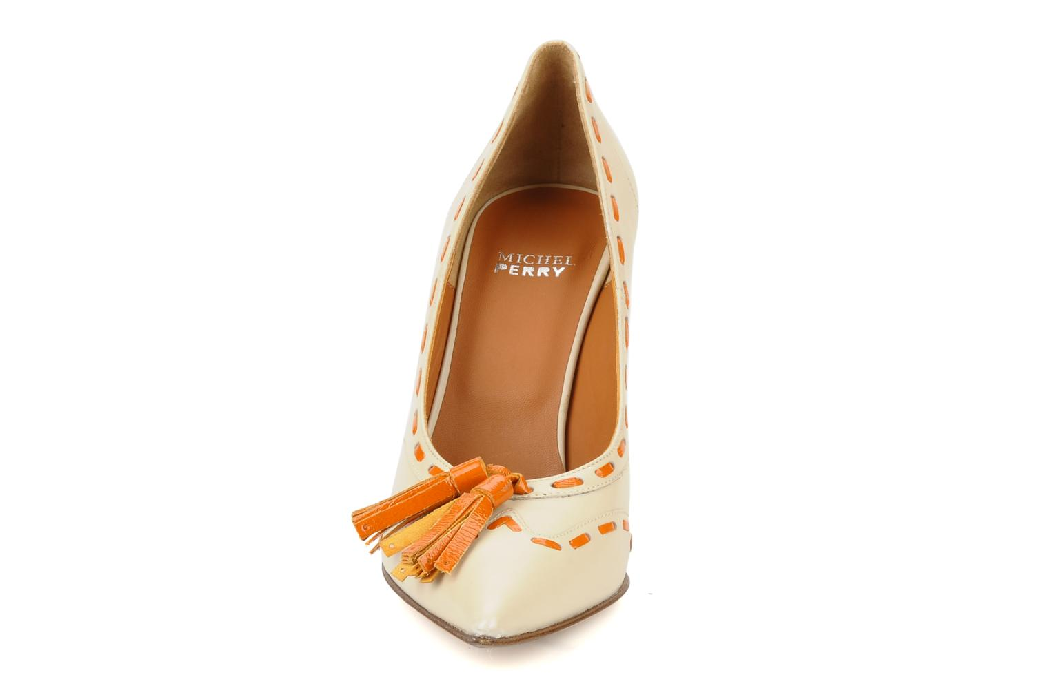 High heels Michel Perry Iraklia Beige model view