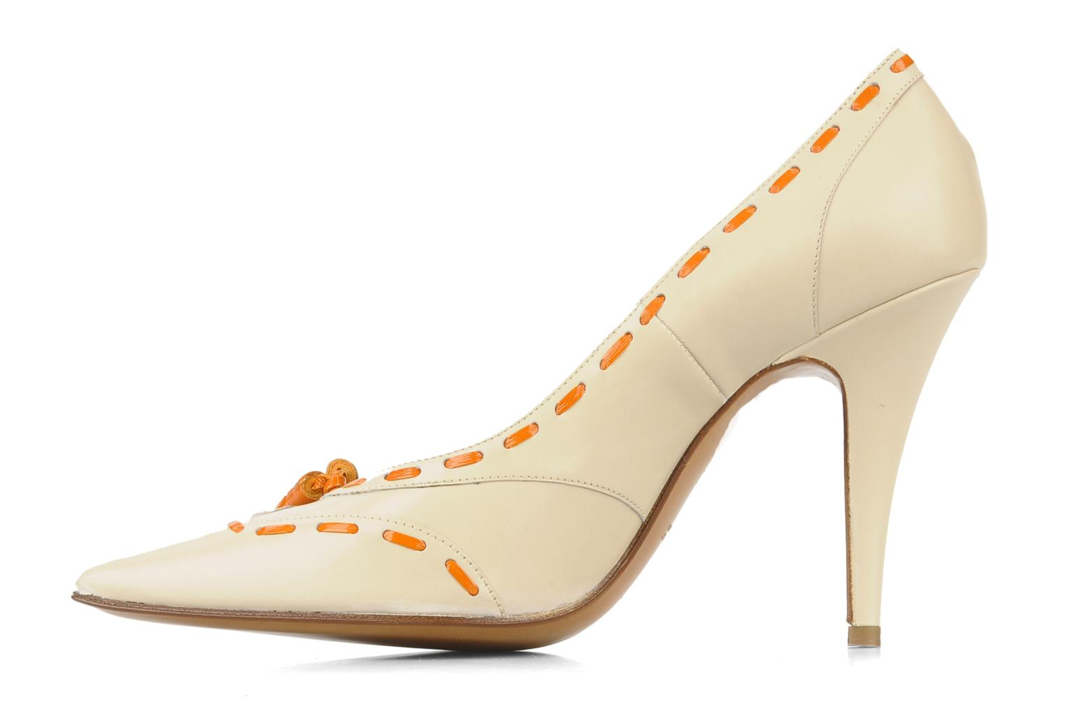 High heels Michel Perry Iraklia Beige front view