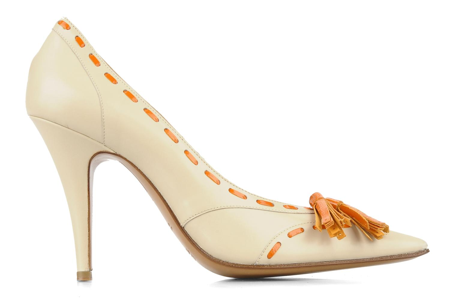 High heels Michel Perry Iraklia Beige back view