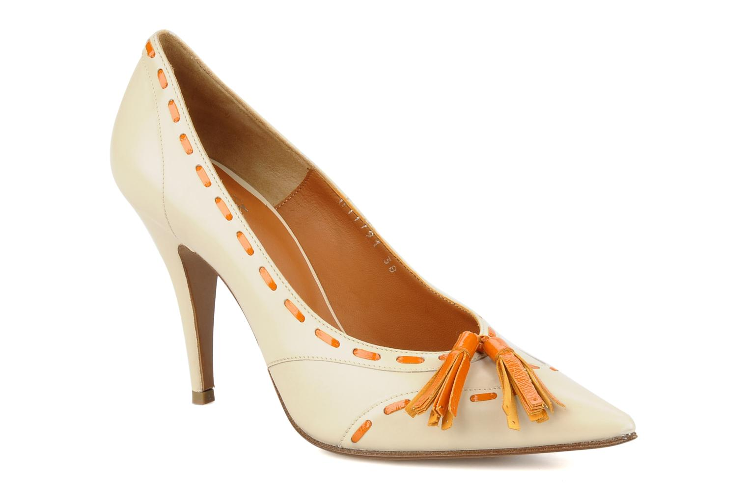 High heels Michel Perry Iraklia Beige detailed view/ Pair view