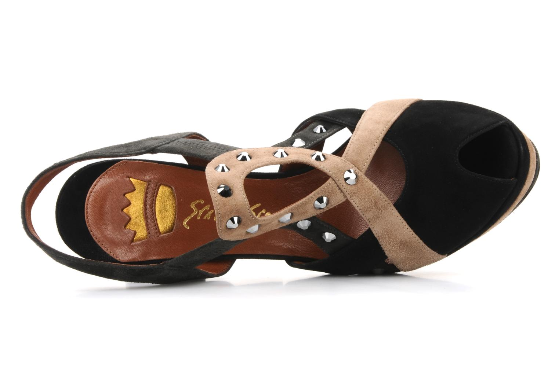 Sandales et nu-pieds Ernesto Esposito Estevana Noir vue gauche