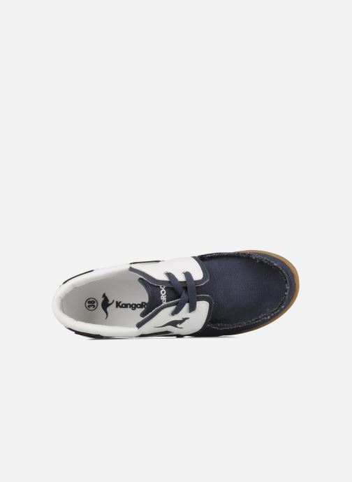 Lace-up shoes Kangaroos Sail Blue view from the left