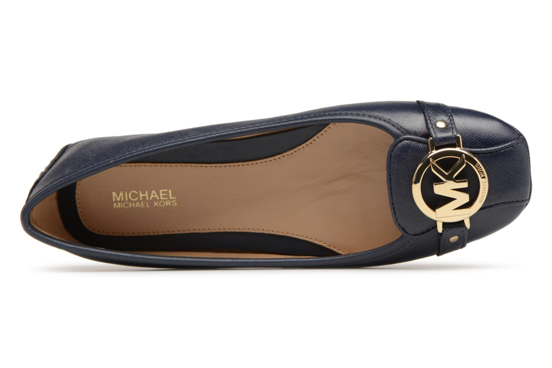 Ballerines Michael Michael Kors Fulton Moc Bleu vue gauche
