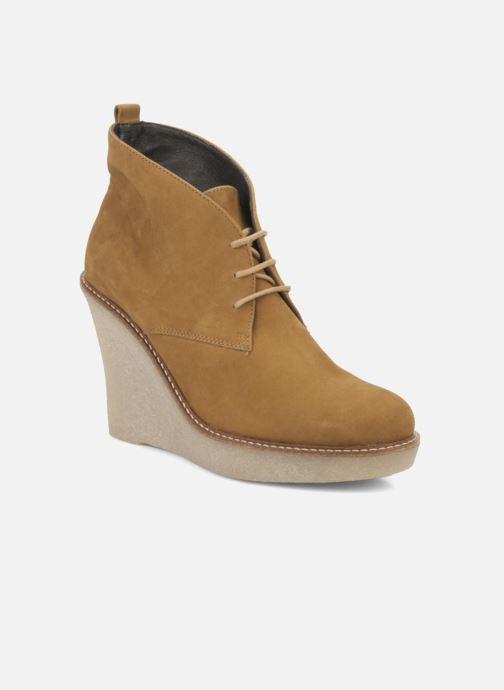 Bottines et boots JB MARTIN Louve Marron vue détail/paire