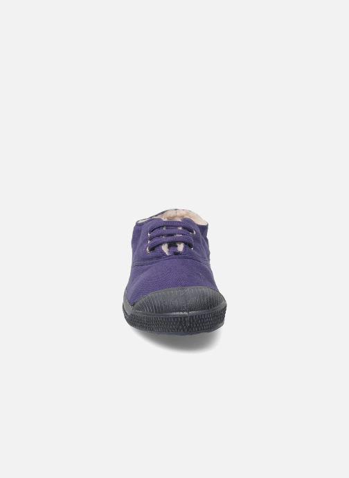 Baskets Bensimon Tennis Fourrees E Violet vue portées chaussures