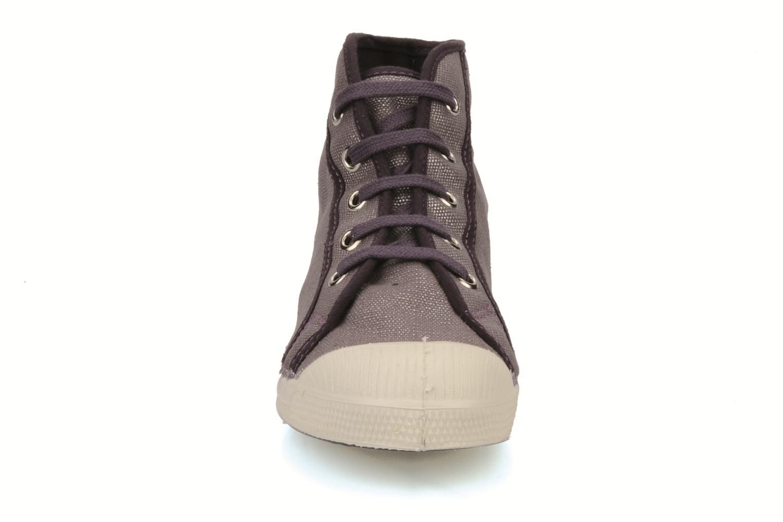 Baskets Bensimon Tennis mid shinny e Violet vue portées chaussures