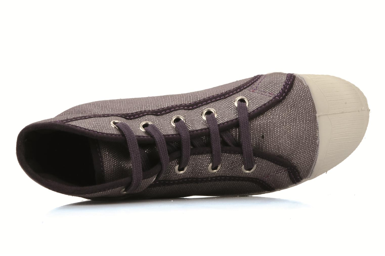 Trainers Bensimon Tennis mid shinny e Purple view from the left