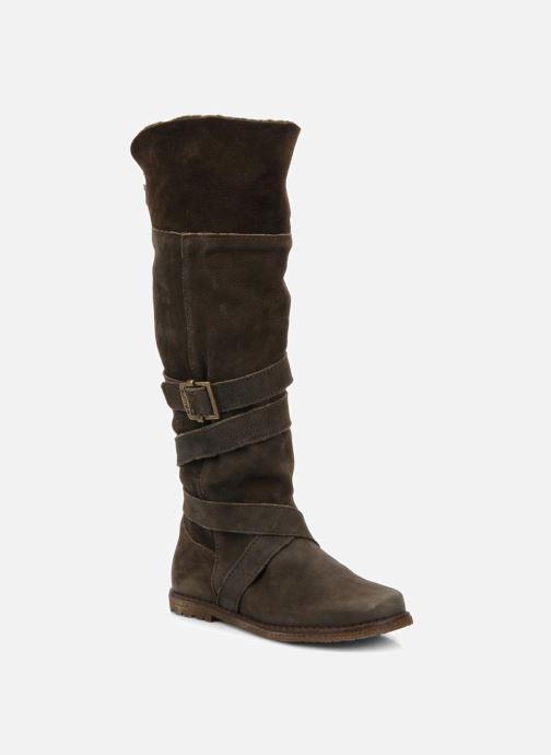 Støvler & gummistøvler Unisa Emmy Brun detaljeret billede af skoene