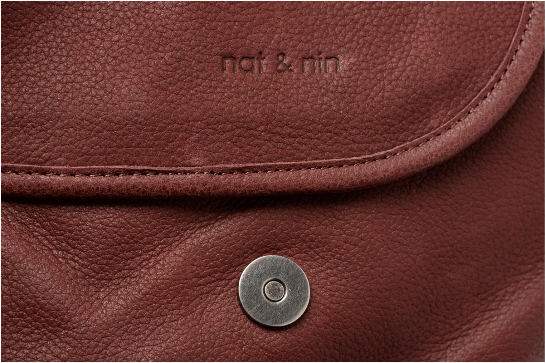 Handbags Nat & Nin Jen Burgundy view from the left