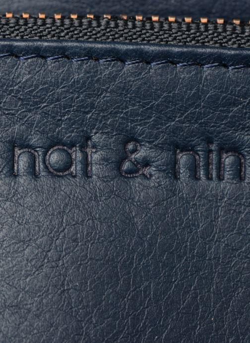 Marroquinería pequeña Nat & Nin Ally Azul vista lateral izquierda