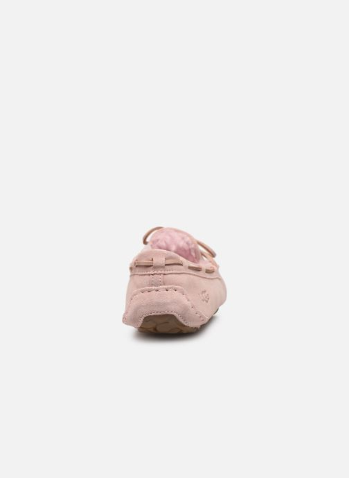 Loafers UGG Dakota Pink view from the right