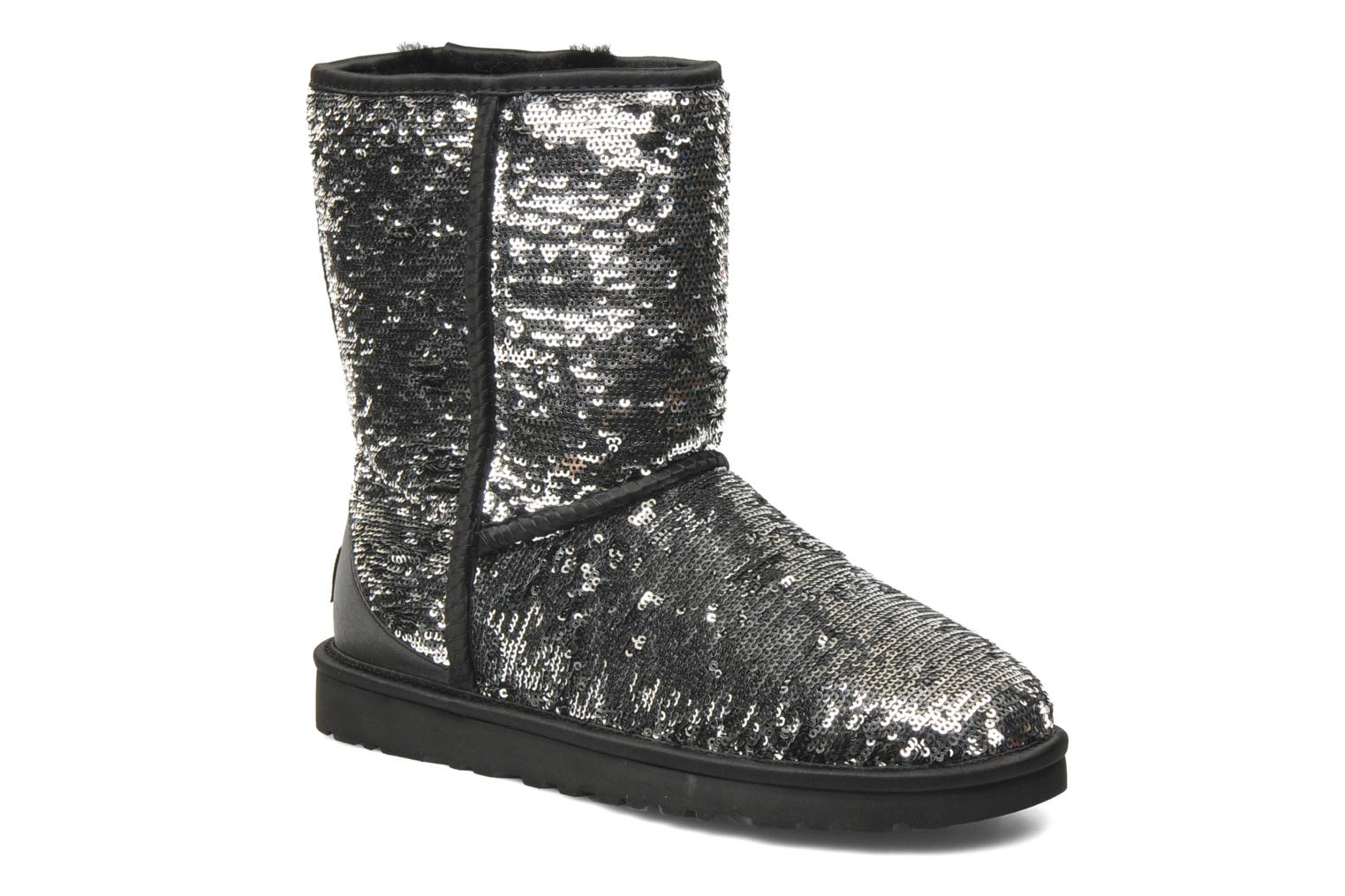 Ankle boots UGG Classic Short Sparkles Silver detailed view/ Pair view