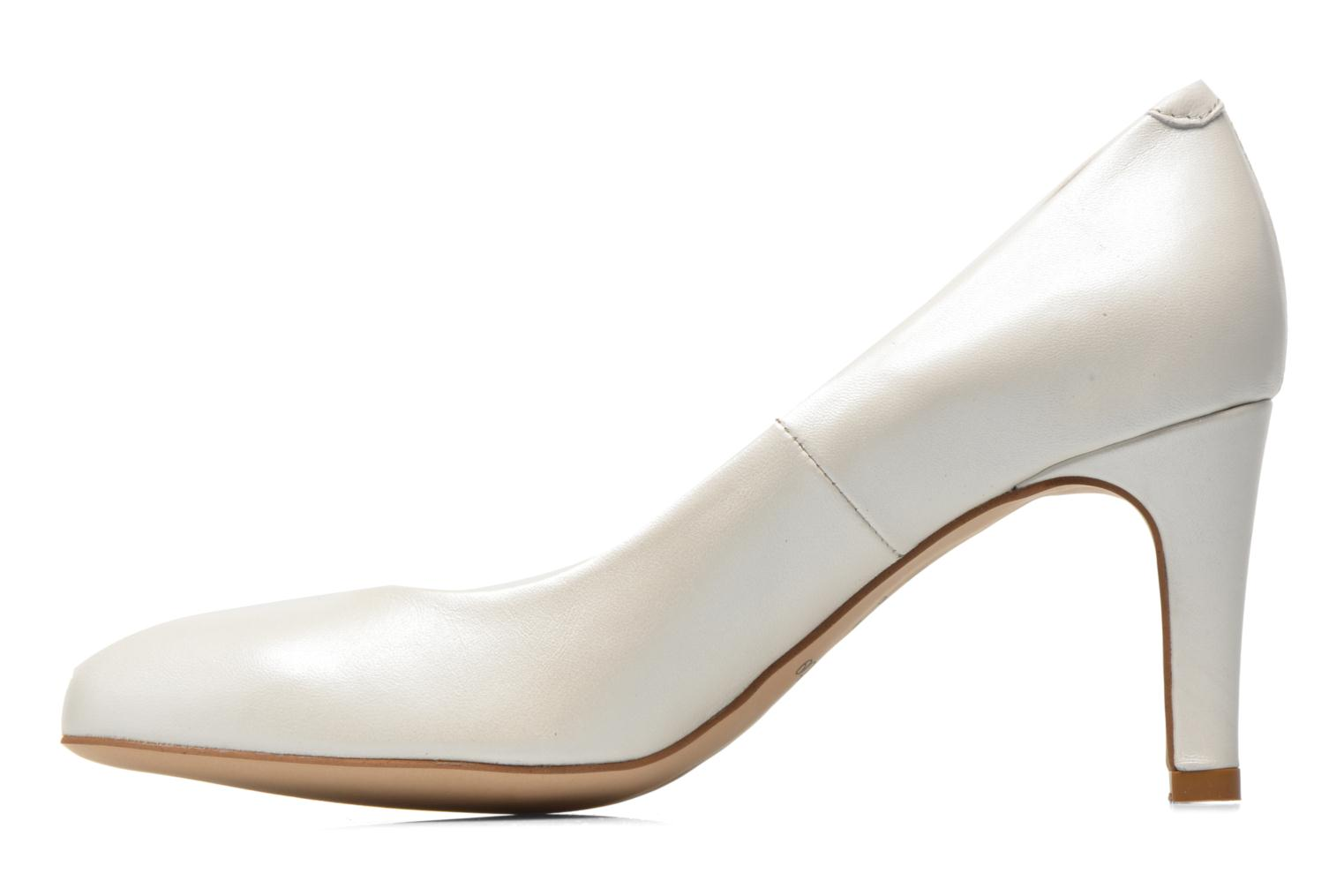 High heels Perlato Cid White front view