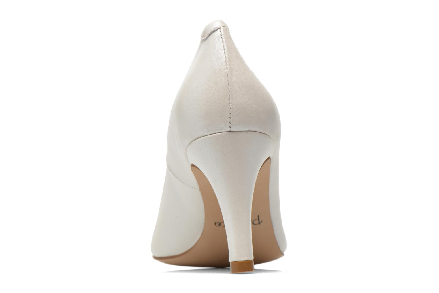 High heels Perlato Cid White view from the right